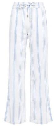 Melissa Odabash Krissy Striped Cotton-gauze Wide-leg Pants