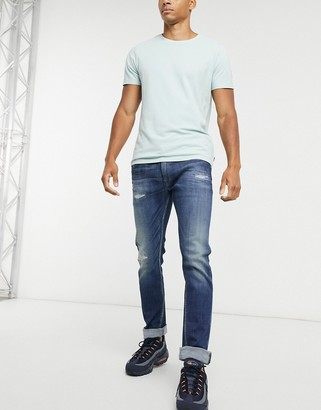 Replay Rocco slim comfort fit jeans in blue