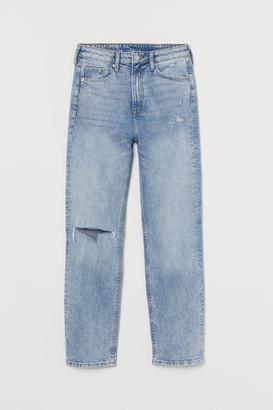 H&M Vintage Slim High Ankle Jeans - Blue