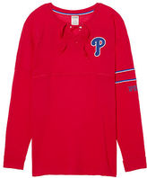 PINK Philadelphia Phillies Bling Lace-up Varsity Crew