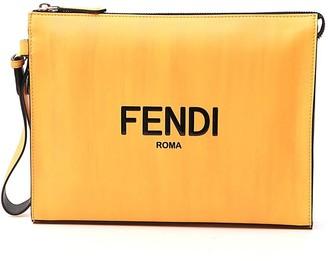 Fendi Logo Printed Pouch