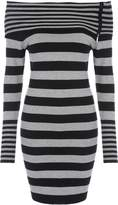 Jane Norman Stripe Bardot Jumper Dress