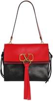 Valentino Garavani MEDIUM V RING BOX LEATHER SHOULDER BAG