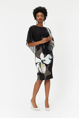 Coast Abstract Floral Overlayer Dress