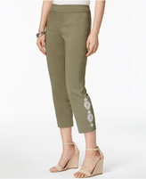 JM Collection Embroidered Capri Pants, Created for Macy's