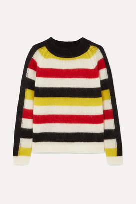 Paper London Mona Striped Knitted Sweater - Cream