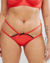 Playful Promises Portia Flame Red Brief
