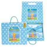 Michel Design Works Baby Dear Blue Receiving Blanket