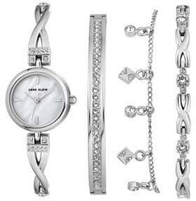 Anne Klein 4-Piece Bracelet Watch Box Set