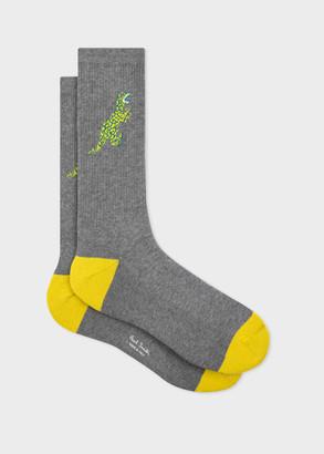 Paul Smith Men's Grey 'Dino' Ribbed Socks