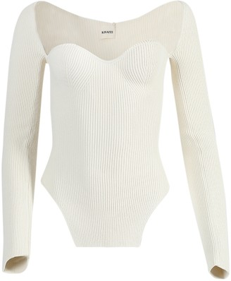 KHAITE Maddy Knit Sweater Cream