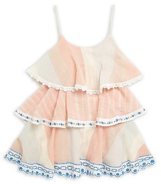 HEMANT AND NANDITA Girl's Bonny Ruffle Cotton Dress