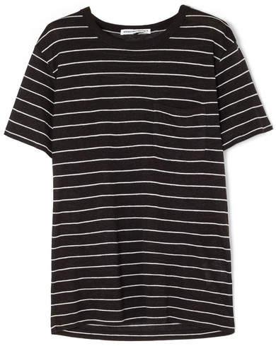 Alexander Wang Striped Slub Jersey T-shirt - Black