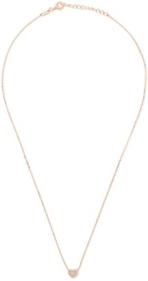As 29 18kt rose gold Miami Heart diamond and pearl necklace