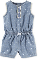 Carter's Dot-Print Chambray Romper, Baby Girls (0-24 months)