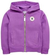 Converse Girls Rib Panel Full Zip Hoody
