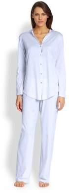 Hanro Long Sleeve Button-Front Pajamas