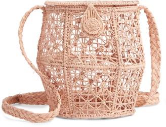 Kaanas Jerico Woven Bucket Crossbody Bag