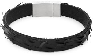 Tateossian Leather Stainless Steel Bracelet