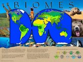 Somerset Media Biomes Poster Series - Laminated. Set of 10 Posters: Tundra, Polar, Desert, Deciduous Forest, Coniferous Forest, Marine, Freshwater, Rain Forest, and Grassland.