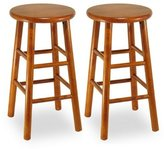 Winsome Wood Part No. 75234 Assembled 24-Inch Cherry Finish Swivel Stools, Set of 2 [Kitchen...