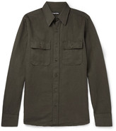 Tom Ford - Slim-fit Linen And Cotton-blend Shirt