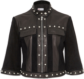 RED Valentino Suede Jacket With Leather Inserts