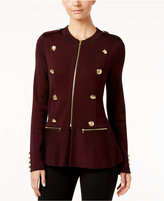 INC International Concepts Military Sweater Jacket, Only at Macy's