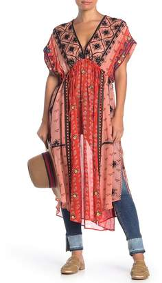 Free People Smiling Sun Mirror Embroidered Dress