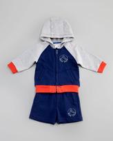 Little Marc Jacobs Urban Chic Fleece Zip Hoodie