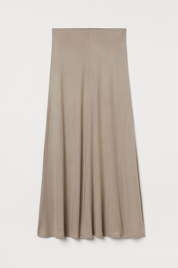Thumbnail for your product : H&M Long silk-blend skirt