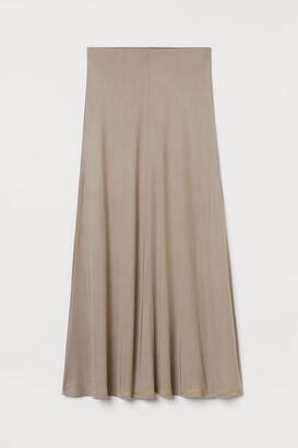 H&M Long silk-blend skirt