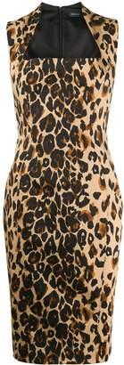 Thierry Mugler leopard print midi dress