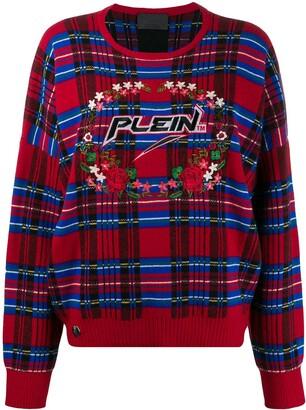 Philipp Plein tartan pullover