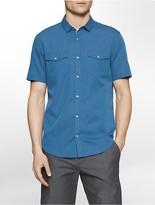 Calvin Klein Slim Fit Dobby Stripe Short Sleeve Shirt