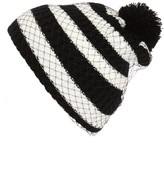 Cara Women's Pompom Knit Beanie - Black