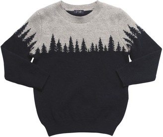 Il Gufo Mountain Intarsia Wool Knit Sweater