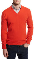 Goodmans Goodman's 12GG Cashmere V-Neck Sweater