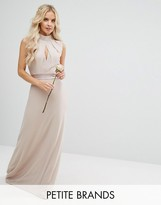 TFNC Petite Wedding High Neck Maxi Dress With Bow Back
