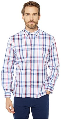 Tommy Hilfiger Adaptive Magnetic Long Sleeve Button Down Shirt Custom Fit (Bright White) Men's Clothing
