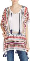 Fraas Geometric Poncho With Tassels