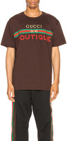Gucci Logo Tee in Dark Chocolate & Mc | FWRD