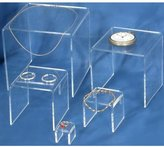 FindingKing 5 Display Risers Clear Acrylic Jewelry Showcase Stands