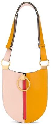 Marni colour block pocket leather shoulder bag