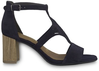 Tamaris Dalina Suede Heeled Sandals with Ankle Strap