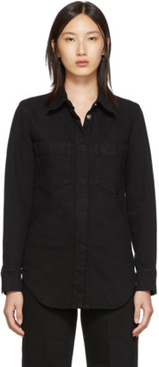 Lemaire Black Fitted Overshirt
