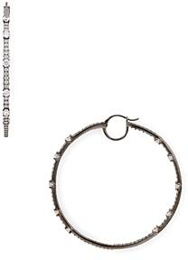 Nadri Bloom Large Hoop Earrings