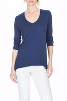 Lilla P Pocket V Neck Top