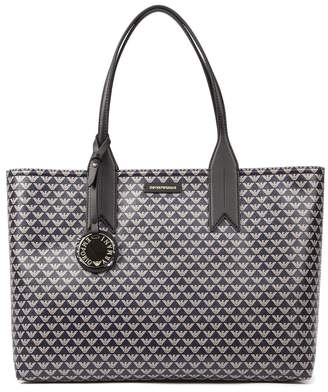 Emporio Armani Pvc All Over Iconic Logo Bag