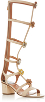 Laurence Dacade Lally Tall Gladiator Sandals with Embellished Florals